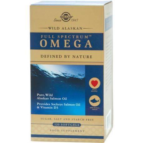 Spectru complet Omega (Full Spectrum) din Somon Salbatic de Alaska x 120 capsule Solgar