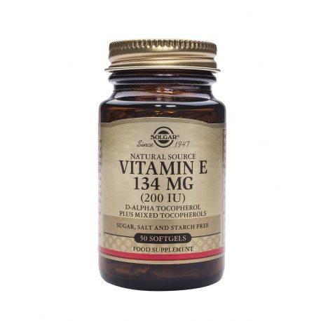 Vitamin E 200IU x 50 caps. Solgar