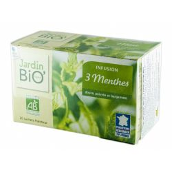 Ceai din plante: Menta 3 soiuri (20 plicuri) 30g JardinBio