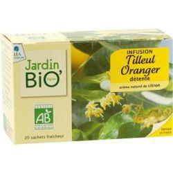 Ceai din plante: Tei si Portocal (20 plicuri) 30g JardinBio