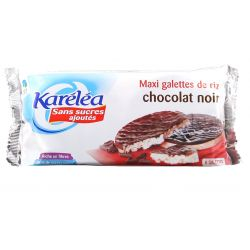 Karelea Maxi rondele de orez cu ciocolata neagra fara adaos de zahar x 100g