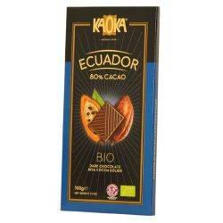 Ciocolata neagra 80% cacao Ecuador x 100g Kaoka