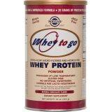 Whey to Go Protein Chocolate powder x 454g Solgar