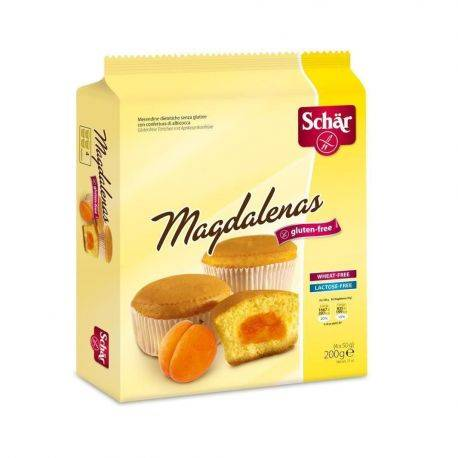 Magdalenas Madlene cu gem de caise, fara gluten x 200g - Dr. Schar