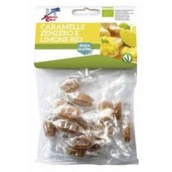 Bomboane bio cu ghimbir si lamaie (fara gluten, vegan) x 50g