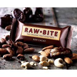 RawBite Baton proteic cu cacao brut x 50g