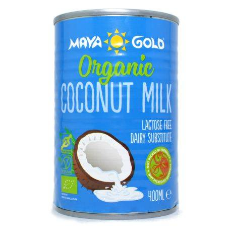 Lapte de Cocos grasime 17% Ecologic x 400ml Maya Gold