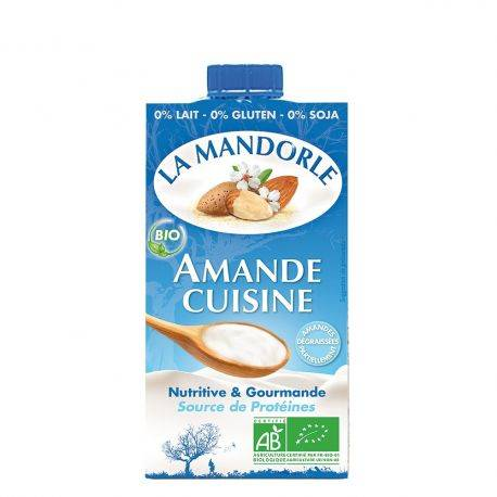 Smantana vegetala de migdale x 250ml La Mandorle