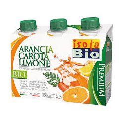 Bautura bio premium de portocale, morcovi si lamaie 3x200ml Isola Bio