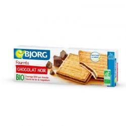 ECO Biscuiti umpluti cu ciocolata neagra x 150g BJORG