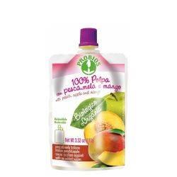 Piure de fructe fara zahar - piersici, mere, mango x 100g Probios