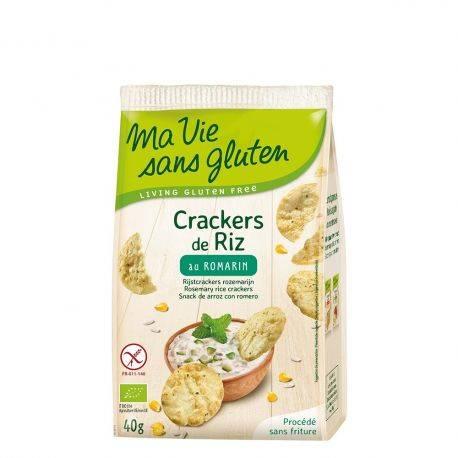 Crackers din orez cu rozmarin fara gluten x 40g Ma Vie Sans Gluten