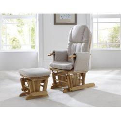 Tutti Bambini Fotoliu reglabil pentru alaptat cu suport pentru picioare GC 35 Walnut Daisy Natural
