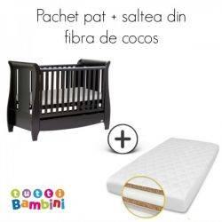 Set patut + salteluta pentru bebelusi Katie Expresso Tutti Bambini