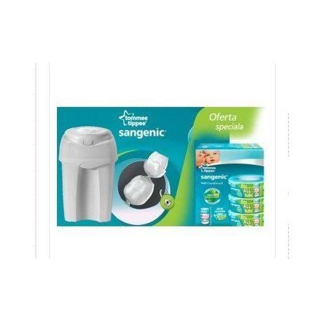 PACHET Cos Igienic Pentru Scutece Nursery Essentials + Rezerva Universala Sangenic x 3buc