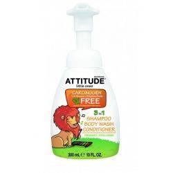 Eco-Baby 3in1 gel de dus, sampon si balsam, rodie x 300ml - Attitude