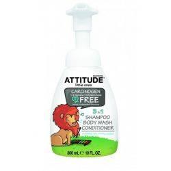 Eco-Baby 3in1 gel de dus, sampon si balsam fara miros x300 ml Attitude