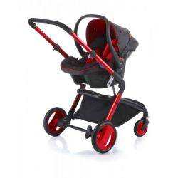 Carucior modular Sojo 3in1 Red Strawberry / Soft Silver Goodbaby