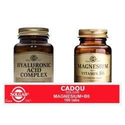 Pachet Hyaluronic Acid Complex 120mg 30tb + Magnesium cu B6 100tb GRATIS