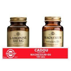 Pachet L-arginine 500mg x 50cps + Magnesium cu B6 100 tb GRATIS