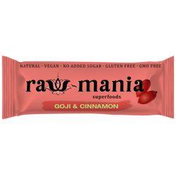 Baton fara gluten, vegan cu goji si scortisoara x 35g Raw-mania