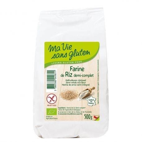 Faina de orez semi integral fara gluten bio x 500g Ma vie sans gluten