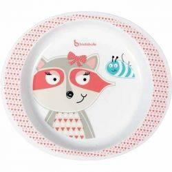 Farfurie pentru mancare Pink Racoon - Badabulle