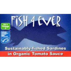 Sardine in sos bio de rosii x 120g Fish4Ever