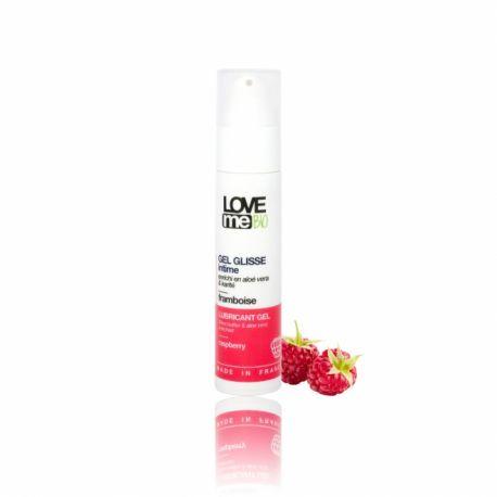 Gel lubrifiant intim cu aroma de zmeura x 50ml Love Me Bio
