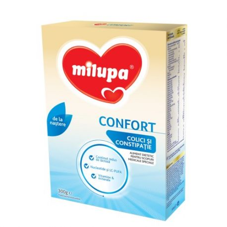 Lapte praf Milumil Confort, colici si constipatie x 300g Milupa