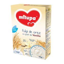 Cereale fara lapte cu fulgi de orez si gust de vanilie x 200g Milupa