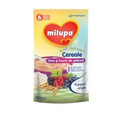 Cereale fara lapte Buna Dimineata cu orez si fructe de padure x 180g Milupa