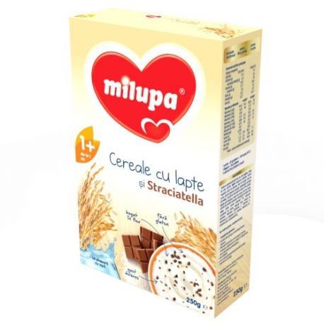 Cereale cu lapte si stracciatella fara gluten x 250g Milupa