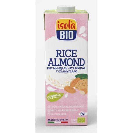 Lapte vegetal bio din orez cu migdale (fara gluten, fara lactoza) x 1000ml Isola Bio