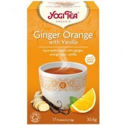 Ceai BIO cu ghimbir, coaja de portocala si vanilie x 30.6g (17 pliculete) Yogi Tea