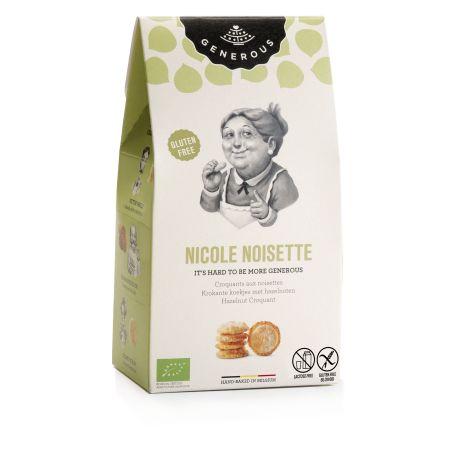 Biscuiti eco fara gluten Nicole Noisette crocanti cu alune de padure x 100g Generous