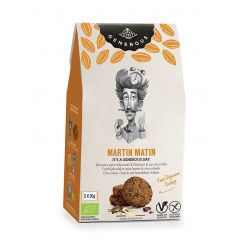 Biscuiti eco fara gluten Martin Matin mic dejun cu fulgi de ciocolata si ovaz x 150g Generous