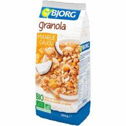 Granola ECO cu mango si caju x 350g BJORG