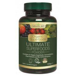 Ultimate Superfoods (31 superalimente si enzime organice) x 150g Natures Aid