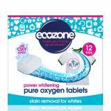Tablete pe baza de oxigen activ pentru albirea rufelor si indepartarea petelor, rufe albe x 12buc Ecozone