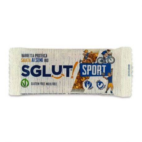 Baton bio proteic crunchy sarat cu seminte fara gluten, fara lapte x 20g SGLUT