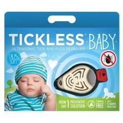 Repelent ultrasonic anticapuse pentru copii 0-5 ani, culoare alb Tickless Baby