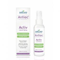 Spray Antiac fata si corp pentru curatarea pielii congestionate cu acnee, Omega, vitamina A, E x 100ml Salcura