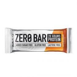 Baton proteic caramel fara gluten si fara zahar Zero Bar x 50g Biotech