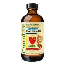 Cod Liver Oil x 237ml (gust de capsune) ChildLife Essentials