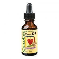 Vitamin D3 500UI (copii) x 29.60ml (gust de fructe) ChildLife Essentials