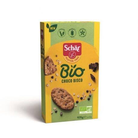 Choco Bisco Cookies fara gluten ECO cu ovaz si ciocolata x 105g Dr. Schar