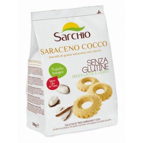 Biscuiti cu cocos si hrisca fara gluten x 200g Sarchio
