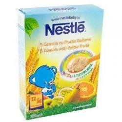 Cereale Nestle - 5 cereale cu fructe galbene x 250g