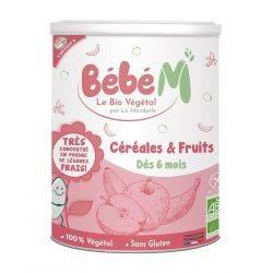 Cereale si fructe pentru bebelusi de la 6 luni x 400g Bebe Mandorle